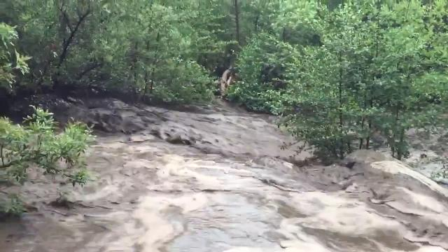 Flash flooding at Water Wheel