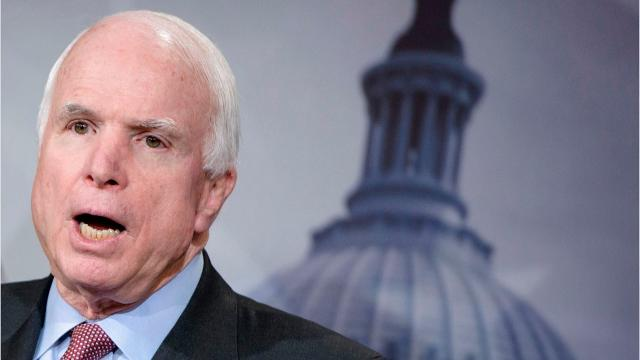 Sen. John McCain diagnosed with brain cancer according to a statement from his office.