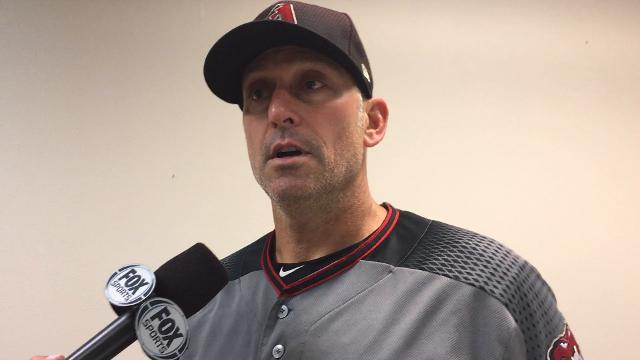 Diamondbacks manager Torey Lovullo talks about his team's 4-3 loss to the Reds on Wednesday night and the hit-by-pitch on new slugger J.D. Martinez.
