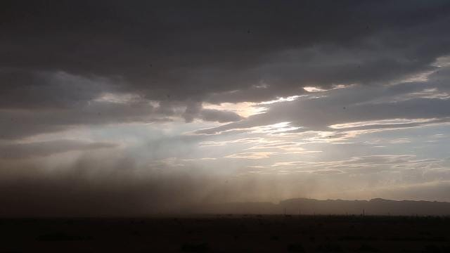 A dust storm moves toward the Valley on July 23, 2017.