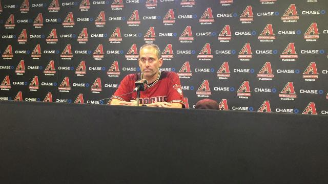 Lovullo talks about the D-Backs' 10-3 win over Atlanta