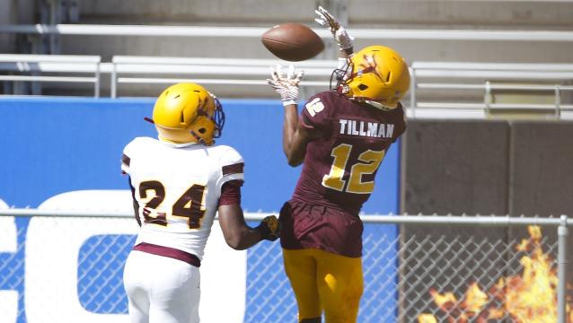 ASU wide receivers John Humphrey and Ryan Newsome