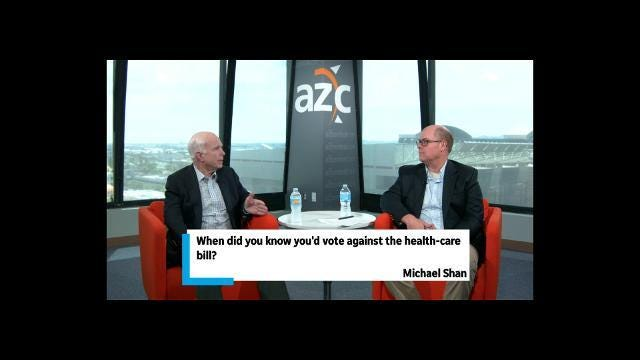 Sen. John McCain on voting against the health-care repeal