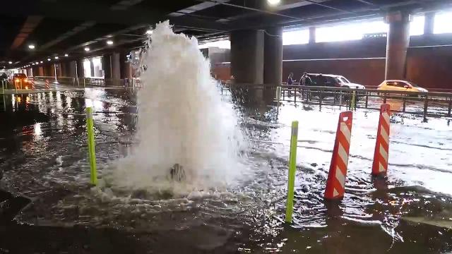 Rains blow manhole covers at Sky Harbor