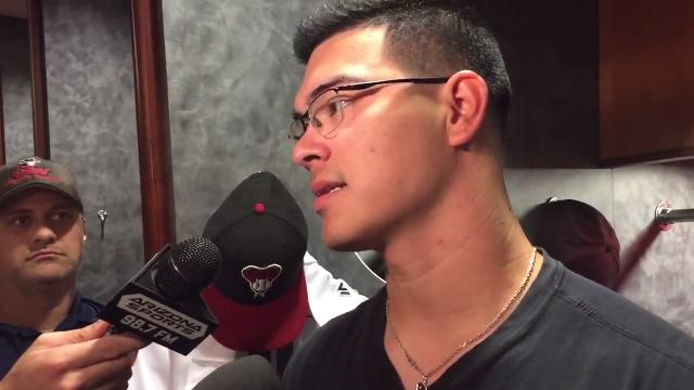 Anthony Banda on his rough outing against the Dodgers
