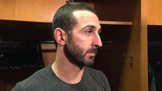 Daniel Descalso after his inside-the-park home run
