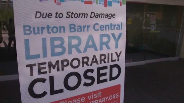 Water-damaged Burton Barr Central Library in Phoenix won't reopen until June 2018