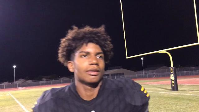 Goldwater senior Rascheed Sterling on team's win