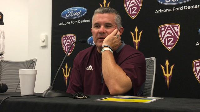 ASU coach Todd Graham comments after ASU's final fall scrimmage.