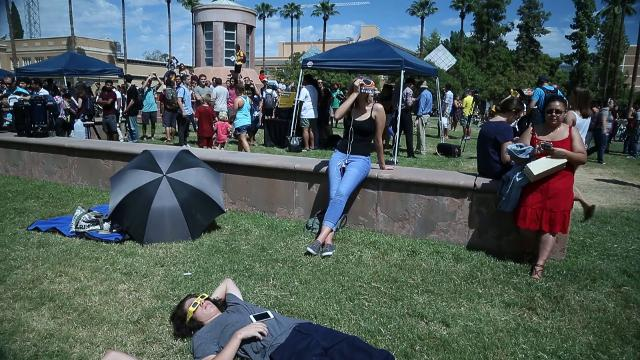 Viewing the solar eclipse at ASU's Tempe campus
