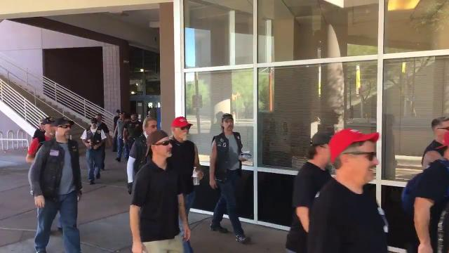 'Bikers for Trump' arrives at Phoenix Convention Center