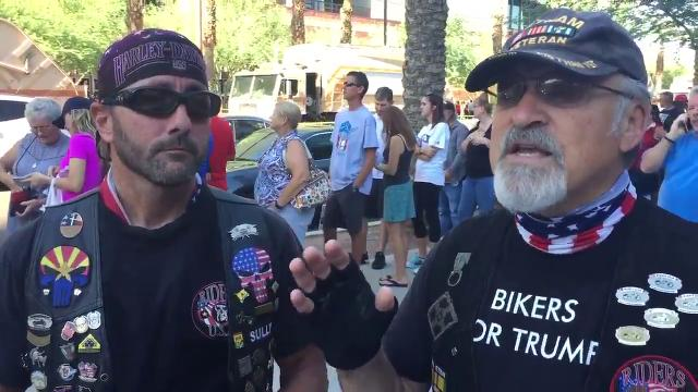 'Bikers for Trump' speak about the rally