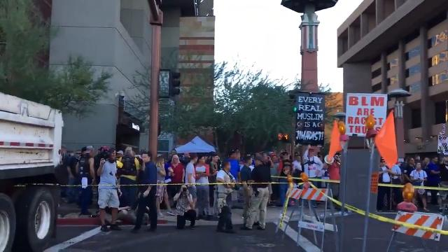 Donald Trump rally in Phoenix: protesters, supporters clash