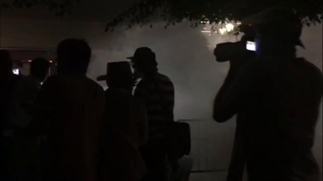 Police fire gas at protesters in Phoenix