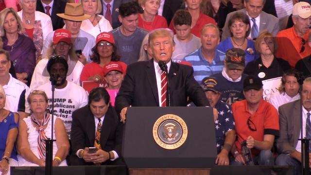 Notable quotes from President Trump's rally in Phoenix