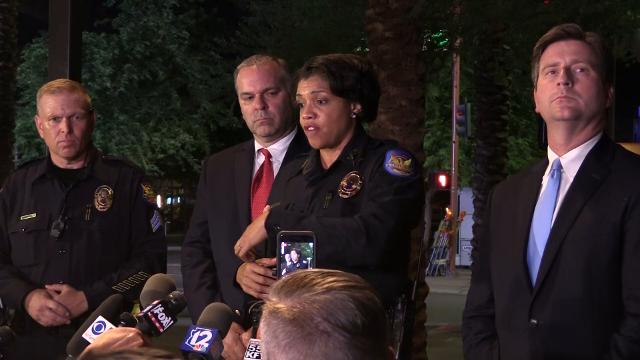 Phoenix Mayor Greg Stanton and Police Chief Jeri Williams