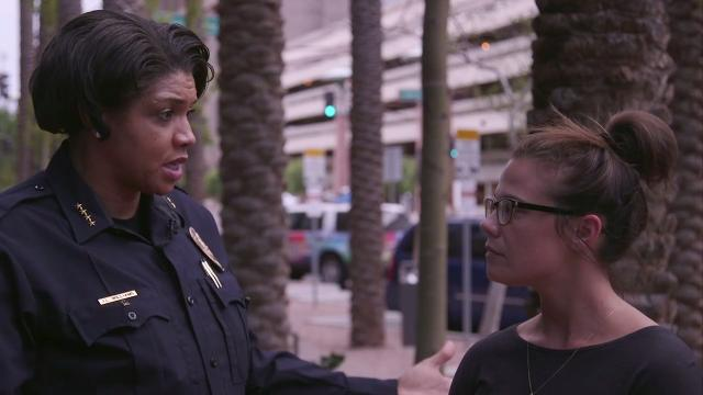 Phoenix Police Chief Jeri Williams talks about night of Trump rally