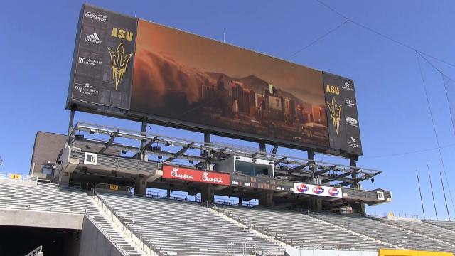 New video board at Sun Devil Stadium