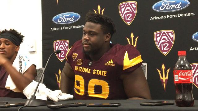 Manny Wilkins, Kalen Ballage and other Sun Devils speak to the media following the team's 37-31 season-opening win.