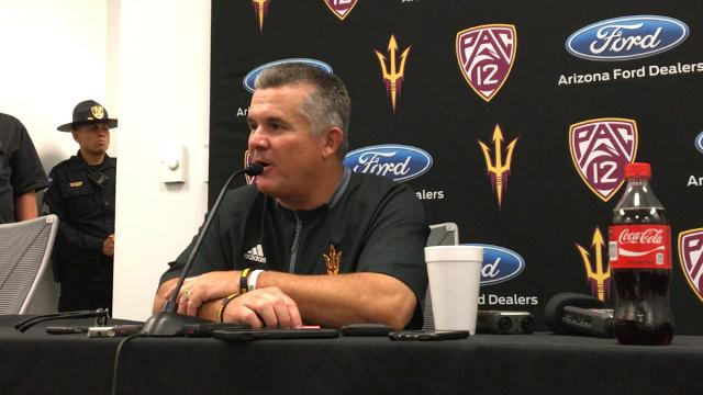 The Sun Devils' head coach speaks to the media about his team's performance in a 37-31 win in their season opener.