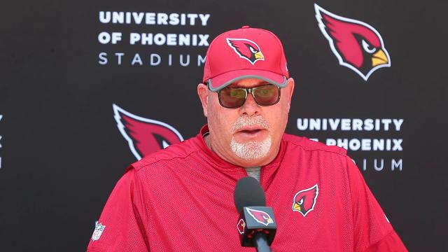 Cardinals head coach Bruce Arians talks about the importance of getting off to a good start in early games. Michael Chow/azcentral.com