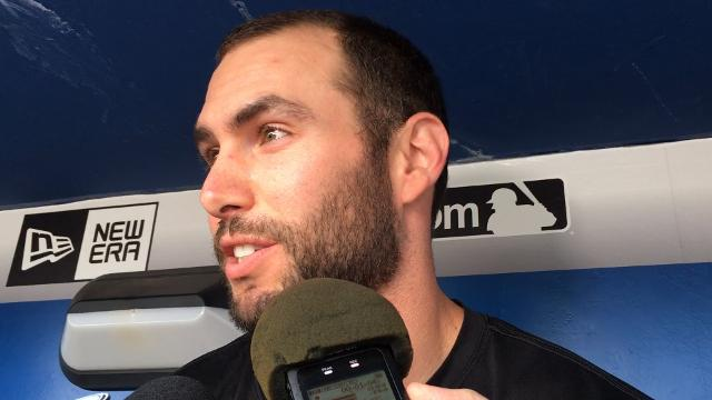 Paul Goldschmidt talks about his sore right elbow