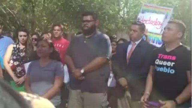 Protesters react to DACA decision at ICE headquarters
