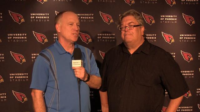 azcentral sports' Kent Somers and Bob McManaman discuss highlights from the Cardinals practice on Thursday.