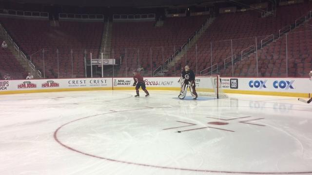 The Coyotes opened rookie camp Thursday at Gila River Arena.