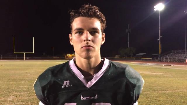 Tyler Duncan after Greenway's win over Thunderbird