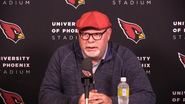 Arizona Cardinals head coach Bruce Arians discusses his team's season opening loss top Detroit. By Rob Schumacher/azcentral sports