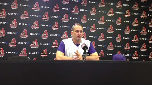 Diamondbacks manager Torey Lovullo discusses his team's win over Colorado on Thursday.