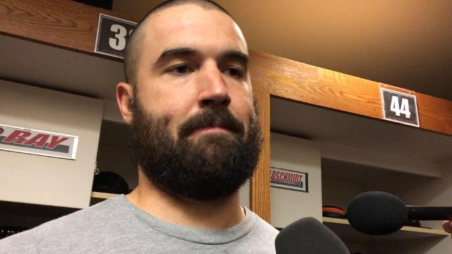 Diamondbacks lefty Robbie Ray talks about his performance in a 3-2 win over the San Francisco Giants on Friday night at AT&T Park.