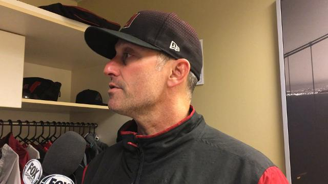 Diamondbacks manager Torey Lovullo talks about ace Zack Greinke's eight shutout innings on Saturday evening against the San Francisco Giants.