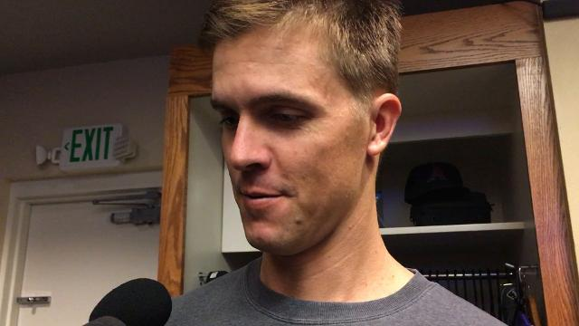 Zack Greinke after 2-0 win over Giants