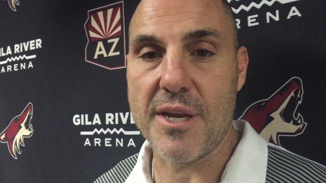 Coyotes General Manager John Ckayka and coach Rick Tocchet discuss the trade for defenseman Jason Demers from the Panthers in exchange for winger Jamie McGinn.