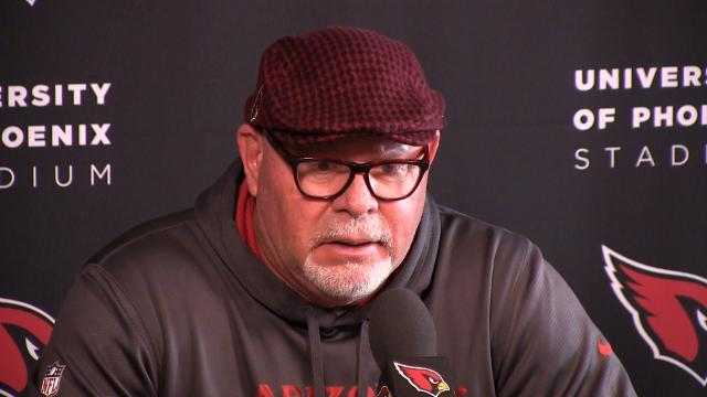 "Arians, on returning home: ""I can't remember the last time we did four road games, and three on the east coast."""