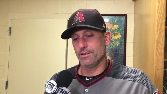 Diamondbacks manager Torey Lovullo talks about his team's 4-2 loss to the San Diego Padres on Monday night.