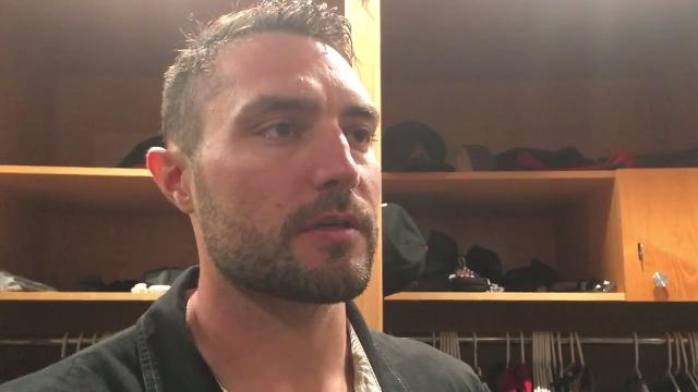 Diamondbacks center fielder A.J. Pollock talks about the two home runs he hit on Tuesday night in San Diego.