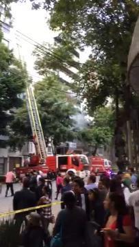 Daños cerca de la embajada de EU en México