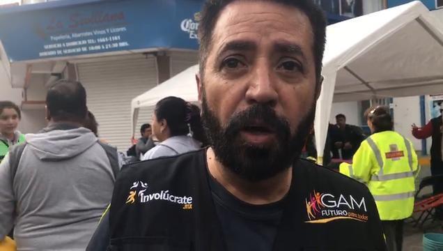 Voluntario habla sobre las labores de rescate