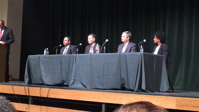 Shane McCord has been selected to lead Gilbert Public Schools as its superintendent. At a public forum during the final round of interviews on Sept. 19, 2017, McCord made his pitch to parents, teachers and the community. Lily Altavena/azcentral.com