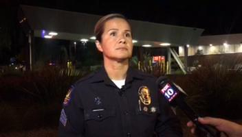 Phoenix police Sgt. Mercedes Fortune talks about a shooting involving police and a man who was being pursued by officers on Sept. 20, 2017. Adrian Marsh/azcentral.com