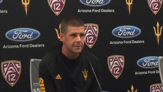 ASU football offensive coordinator Billy Napier reviews Texas Tech and looks ahead to No. 24 Oregon