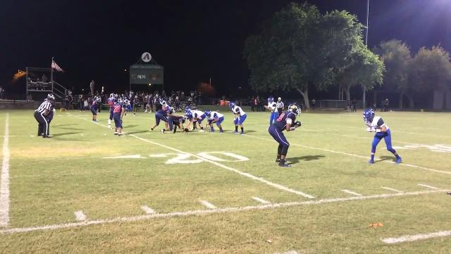 Bagdad quarterback Israel Loveall set a new Arizona high school touchdown pass record on Friday, Sept. 22, 2017. He needed five to break the mark and had six in the first half.