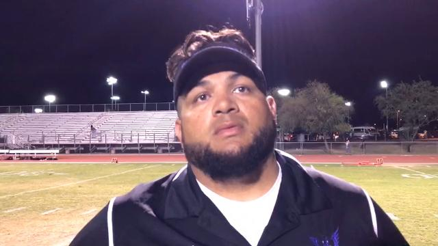 Cesar Chavez head coach Manuel Alcantar spoke with Weston DeWitt of AZCentral after his team got back into the win column with a victory over Betty Fairfax, 34-12.