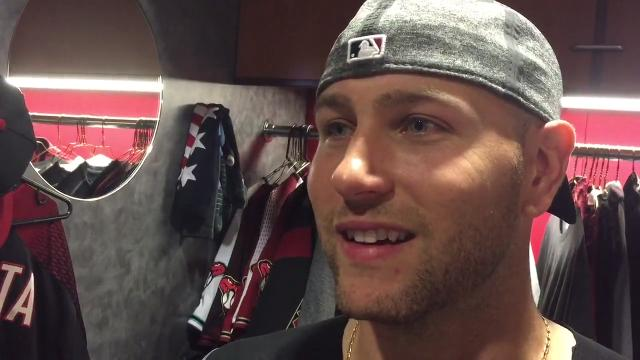 Diamondbacks catcher Chris Iannetta discusses his eight-RBI night in Arizona's win over the Marlins on Friday.