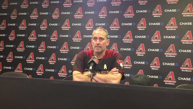 Diamondbacks manager Torey Lovullo discusses the pros and cons in Arizona's 12-6 loss to the Marlins on Saturday.