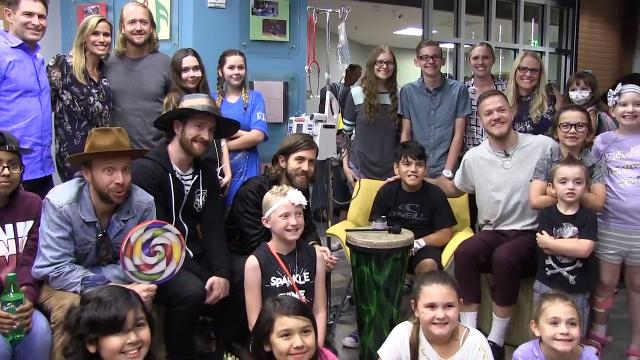 Imagine Dragons visit with patients at Cardon Chrildren's Hospital