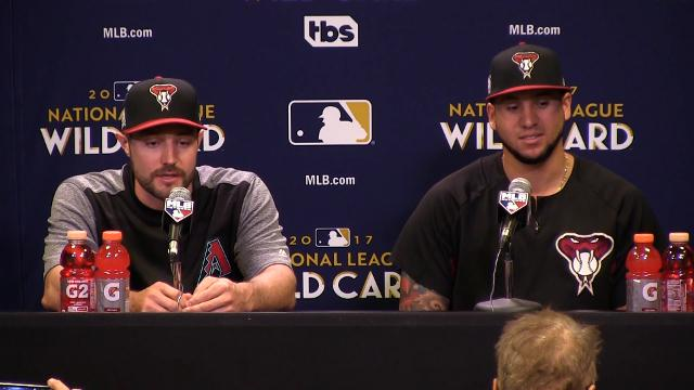 Diamondbacks outfielder A.J. Pollock addresses security concerns for wild-card game after Las Vegas shooting on Monday.  Rob Schumacher/azcentral sports